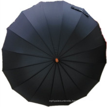 Black Pongee Straight Umbrella (JYSU-26)
