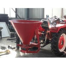 Agricultural machine towable fertilizer spreader