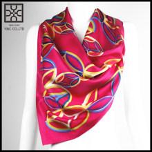 2015 Новый дизайн Красный квадрат Печатный шелковый шарф