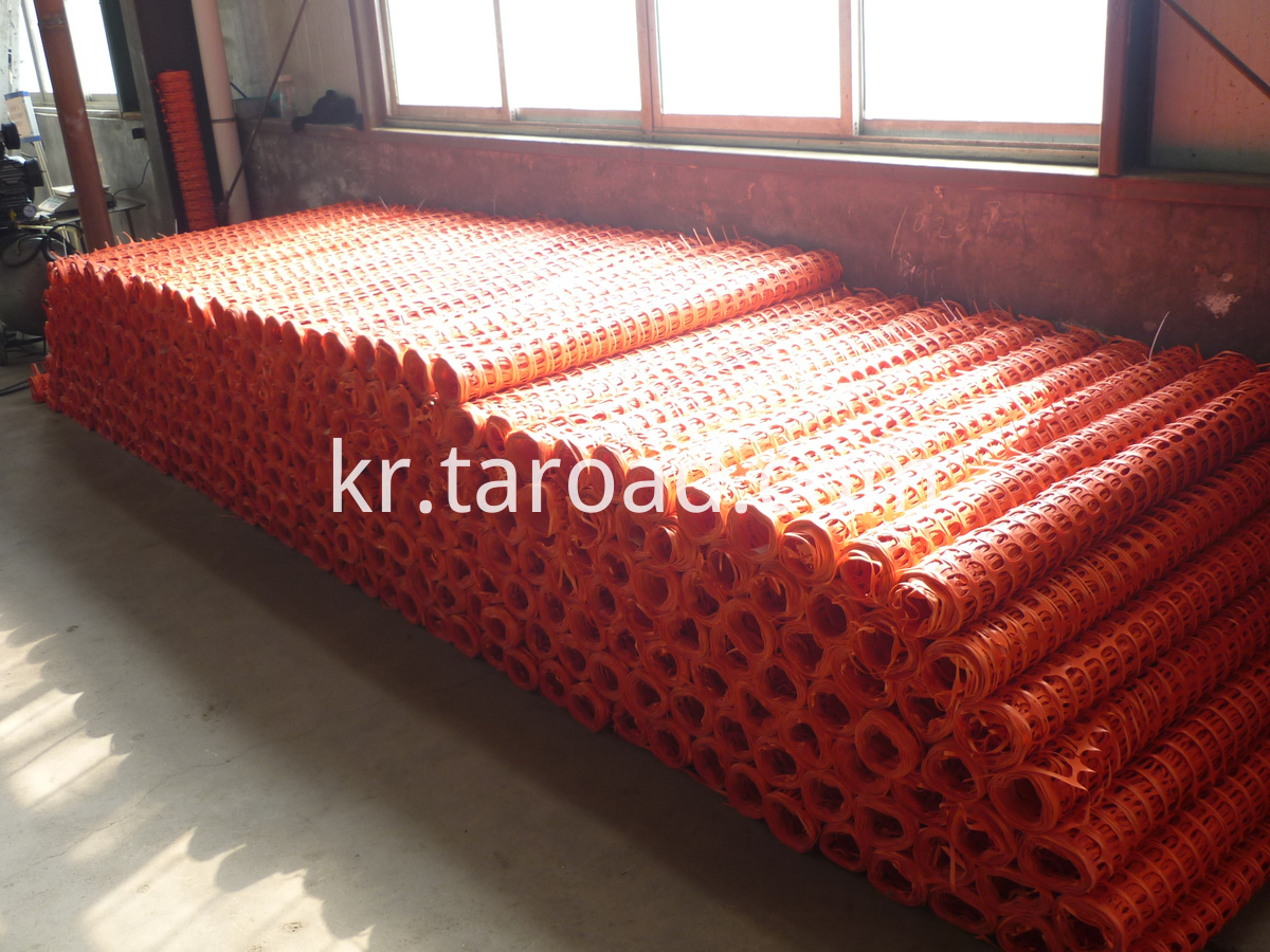 Safety fence extruded netting