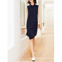 Einfaches ärmelloses Büro Damen Fashion Dress