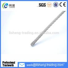 6 * 7 + FC de alta tensão de arame galvanizado Corda de aço