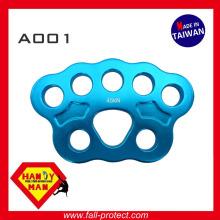 A001-b 45kN Climbing Aluminum Rigging Anchor Plate Slackline Medium Paw Rigging Plate