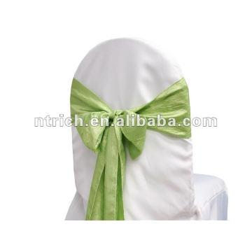 Crinkle sash taffeta, chemin de table, nappe, Set de table, serviette, couverture de chaise