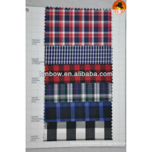 stock check 100% cotton shirting fabrics