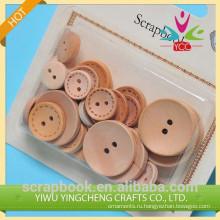 DIY круглые деревянные кнопку & украшения кнопку