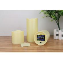 Batería simulada led de alta calidad de la vela del pilar.
