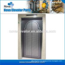 Panel de puerta de elevador de acero inoxidable grabado en espejo para la venta