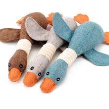 Animais em forma de pato Squeak Plush Pet Dog Toys