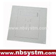 Face Plate 1 porta, tamanho: 86x86mm