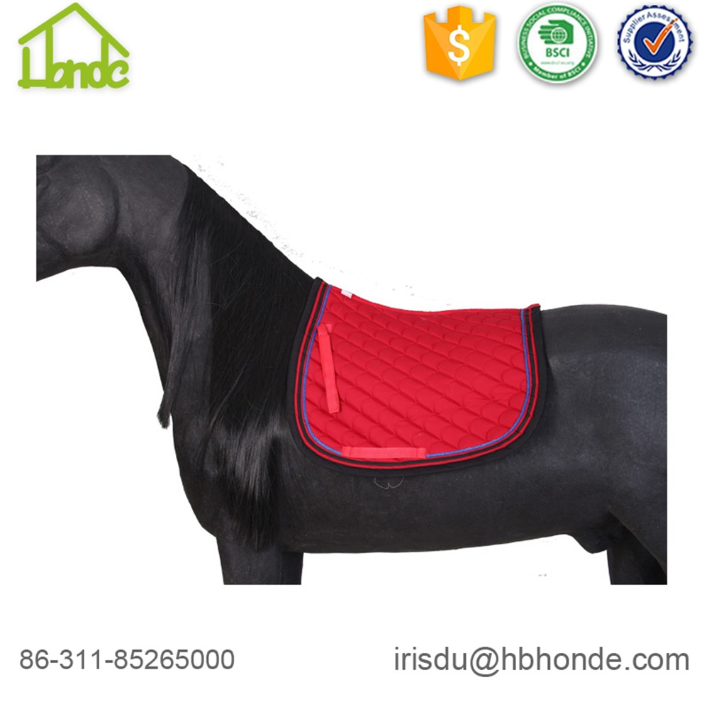 Breathable englische rote Farbe Pferd Saddle Pads