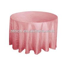 Camaleão shirred toalha de mesa tafetá, tampa de tabela da dobra/esmagado