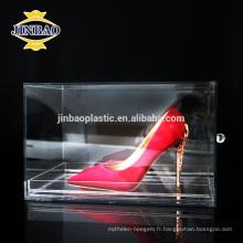 Jinbao clair couleur pmma matériel affichage acrylique support grilles 3mm