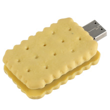 PVC Yellow Biscuit Shape USB Flash Drive for Business (EP011)