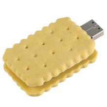 PVC amarelo forma de biscoito USB Flash Drive para empresas (EP011)