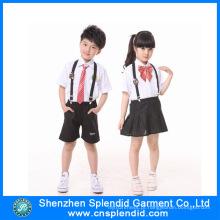 Shenzhen Fábrica Costumes baratos moda infantil escola Uniformes