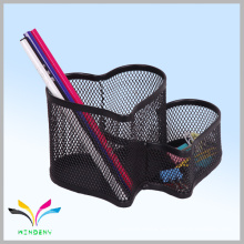 Office and school supplies black metal wire mesh table pen holder desk organizer