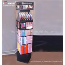 Expresse sua criatividade e valor de marca Loja de varejo Cuidados com a pele Perfume Vidro Rotating Cosmetic Display Cabinet And Showcase