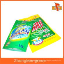 Plástico se levanta bolsa bolsa para el polvo de lavado / jabón de lavandería en polvo / polvo de lavandería