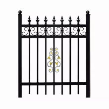 Factory Price Modern Style Galvanized Steel Decorative Iron Art Fence for Yards