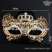 Crystal Queen Mask With Crown In Top