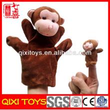 fantoches de dedo de bebê animais fantoche de dedo de macaco