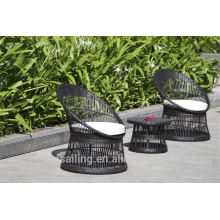 Hot sale Outdoor All Weather 3pcs rattan bistro set