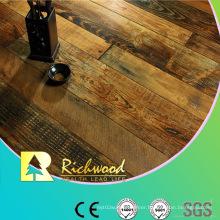 Commercial 12.3mm E1 HDF AC3 Embossed Oak V-Grooved Laminated Floor