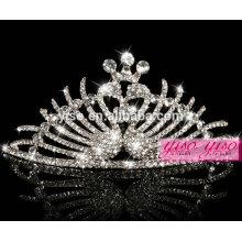 Corona cristalina de los accesorios del pelo de la princesa del metal de la manera de la venta caliente