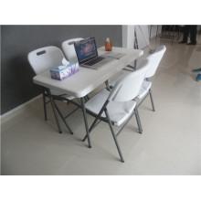 4FT Легкий переносной прямоугольный пластиковый складной стол для пикника или других видов активного отдыха