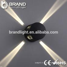 Lumière murale moderne à 4 lumières latérales de qualité supérieure, lampe murale LED décorative