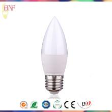 Lâmpada direta da luz do dia C37 E27 / E14 do diodo emissor de luz da fábrica / Warmwhite para 3W / 5W7w / 9W