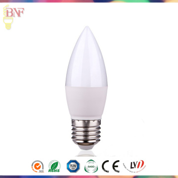 Factory Direct LED C37 E27/E14 Daylight/Warmwhite Candle Bulb for 3W/5W7w/9W