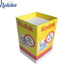 Papeleras de reciclaje promocionales de cartón reciclable para venta al por menor, bandejas de descarga de venta al por menor