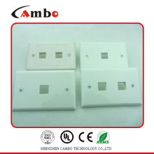 Made In China 1/2/4 Port wall plate cat 6 cat 6 crimping