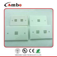 Сделано в Китае свободный образец 1/2/4 Port настенная панель cat 6 RCA Cat 5/6 F Разъемная настенная панель