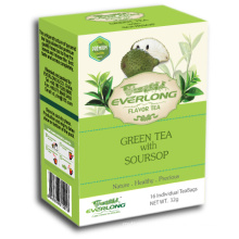 Soursop Flavoured Chá Verde Pyramid Tea Bag Premium Misturas orgânico e compatível com a UE (FTB1509)