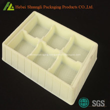 PS Flocking plastic vacuum formed tray for health care