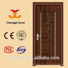 Puerta económica de acero y madera con núcleo de panal de 45 mm