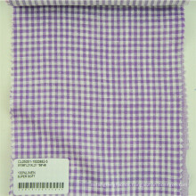 checkered 100% linen fabric/flax linen fabric