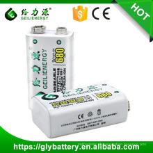 Geilienergy Recarregável 680mAh 9V Lithium Polymer Battery Pack