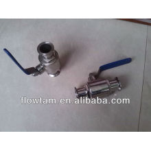 stainless steel tri clamped ball valve