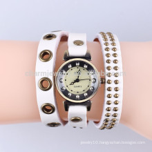Korean foreign trade vintage leather casual watch bracelet watch fashion bracelet watch rivet wrapped brach BWL038
