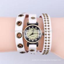 Корейский внешней торговли старинный кожаный случай часы браслет смотреть моды браслет смотреть заклепки завернутые Brach BWL038