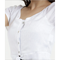 Short Sleeve O-Neck Button Down T Shirts