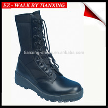 Leather camo military boots with PU/rubber outsole