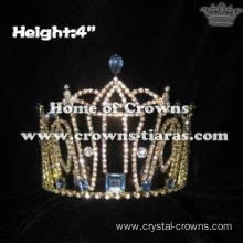 4in Height Pageant Princess Crowns With All Clear Rhinestones