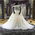 Spezielle Design Brautkleid Open Back Perlen Sicke Spitze durchsichtig Satin Futter Custom Wedding Dress