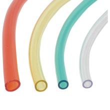 Tubo claro plástico não tóxico do PVC do espaço livre transparente do vinil do tamanho