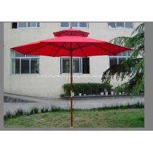 Telhado duplo Delux guarda-chuva de madeira de alta qualidade